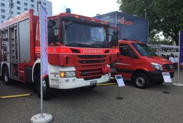 Rüstwagen an der Suisse-Public in Bern
